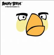White Angry Bird Greeting Card